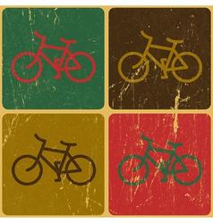 retro bicycles background vector image