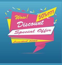 super sale arrow banner big sale clearance 50 vector image