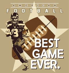 football best game vector image vector image
