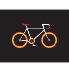Retro bicycle on the dark background vector image vector image