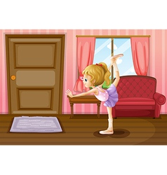 The ballet dancer vector image