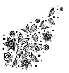 Various Butterflies on White Background vector image vector image
