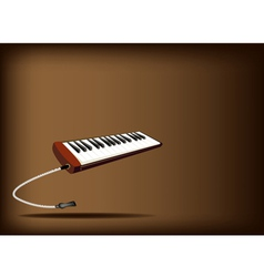 A Musical Melodica on Dark Brown Background vector image vector image