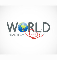 april 7 world health day background vector image