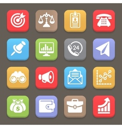Business and finance icon for web mobile vector image