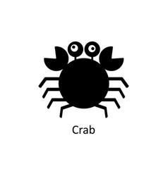 crab icon silhouette icon vector image vector image
