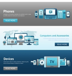 Devices Design Banner Set vector image vector image
