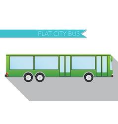 Flat design city Transportation city bus side view vector image vector image