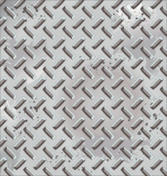 grunge diamond plate vector image vector image