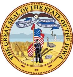 Iowa seal vector image vector image