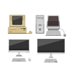 Old computer vector image vector image