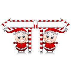 Santa's little helpers vector image vector image