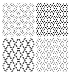 seamless diamonds patterns vector image vector image