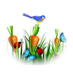 bird of spring vector image vector image