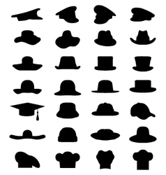 caps and hats vector image vector image