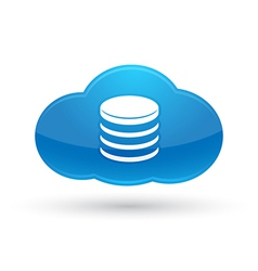 Cloud Computing Database Icon vector image vector image