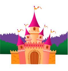 colorful castle vector image