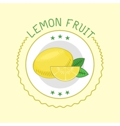 Lemon badge vector image vector image