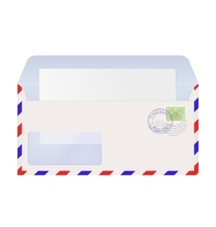 Open air mail envelope with stamps vector image