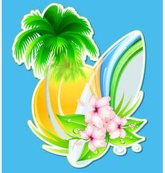 summer insignia vector image vector image