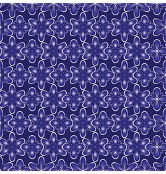 abstract blue flowers background vector image vector image