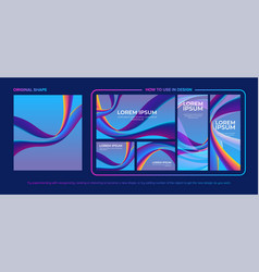 abstract shape with design pack vector image