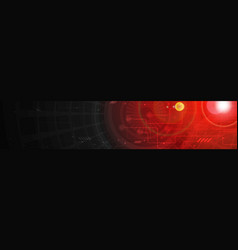 Abstract technology dark red web header banner vector