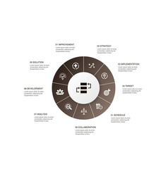 Action plan infographic 10 steps circle design vector