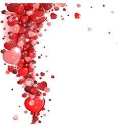 background red hearts vector image