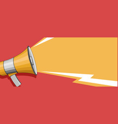 banner with megaphone and speech sound wave vector image