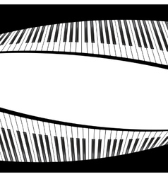 black and white piano template vector image