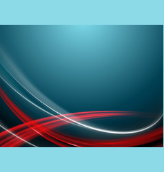 Blue background with smooth red and white stripes vector