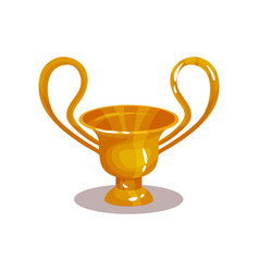 Bright yellow amphora with two high handles icon vector