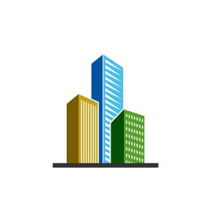 building real estate icon design template isolated vector image