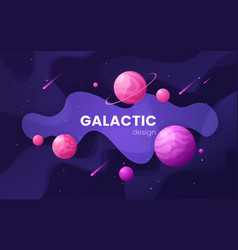 cartoon galaxy futuristic outer space background vector image