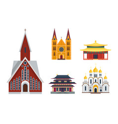 Cathedral churche temple building landmark tourism vector