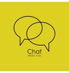 chat isolated icon design vector image