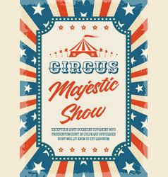 circus retro poster vector image