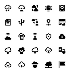 Cloud Data Technology Icons 4 vector image