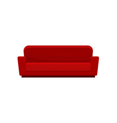comfortable sofa red modern couch living room vector image