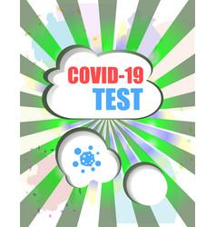 Covid-19 test sign caution coronavirus covid-19 vector