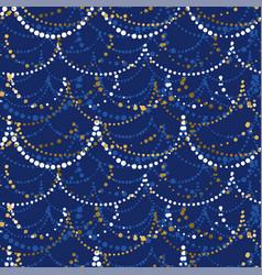 elegant christmas garland seamless pattern vector image