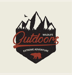 extreme adventure logo vector image