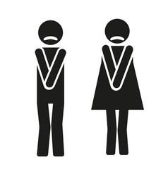 funny wc symbols vector image