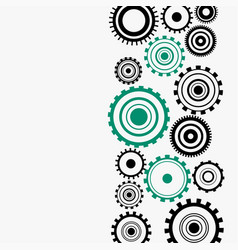 Gear wheels diagram on white background vector