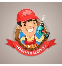 Handyman Services Emblem vector image