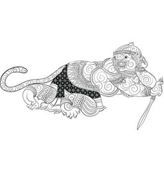 hanuman thai traditional painting vector image