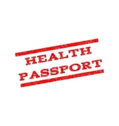 Health Passport Watermark Stamp vector