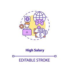 High salary concept icon vector
