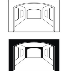interior hall vector image